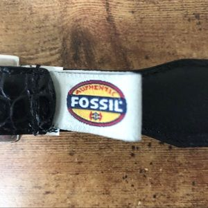Fossil Accessories - Fossil Black/Silver Western Concho Leather Belt 34